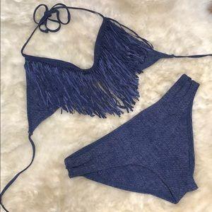 """L*Space Audrey Blue """"Denim"""" Bikini"""